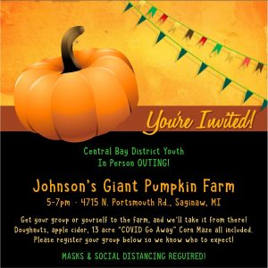 picture of Johnson's Pumpkin Farm youth outing invitation